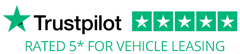 Trustpilot - Rated 5* for Vehicle Leasing
