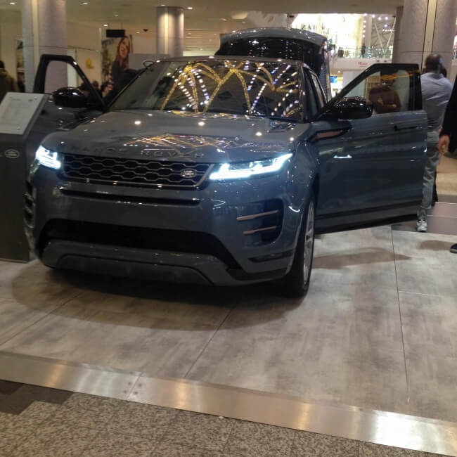 New Range Rover Evoque Spotted In Westfield, London