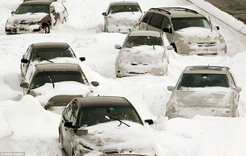 Blog / cars stuck in snow