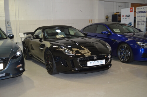 Blog / jaguar in show room