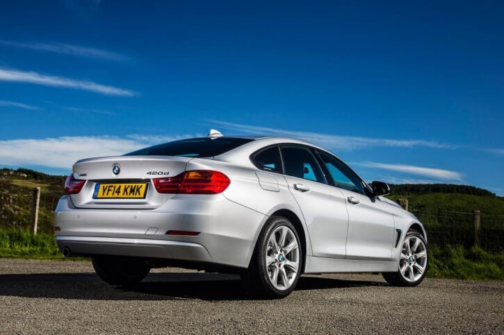 bmw 4 series gran coupe rear angle