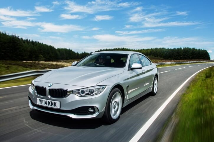 bmw 4 series gran coupe side angle
