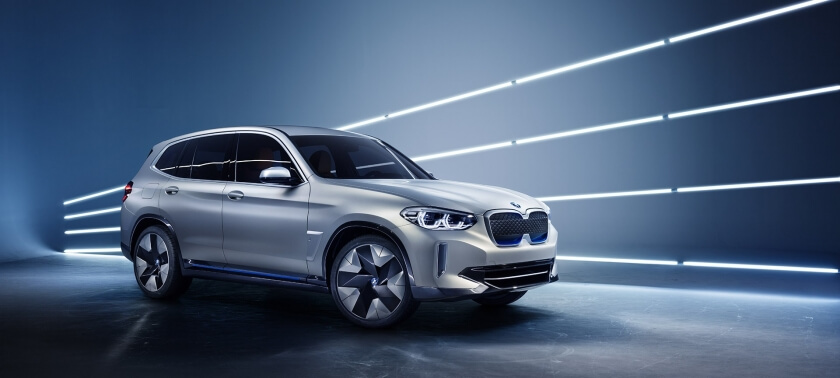 bmw ix3 side profile