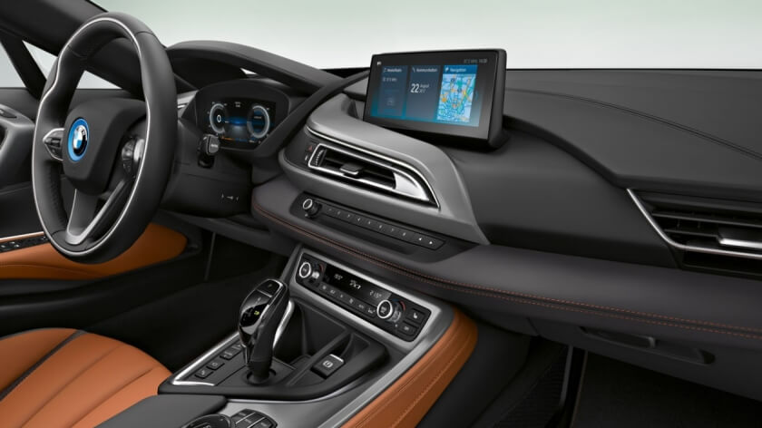 BMW i8 coupe interior