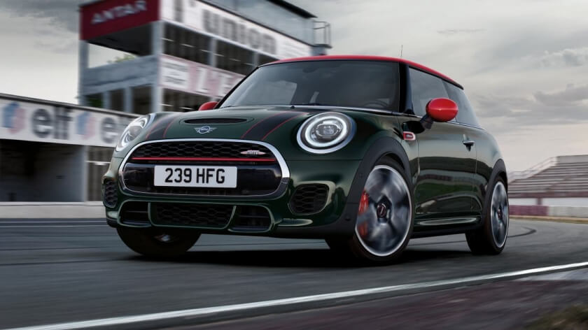 mini jcw front angle