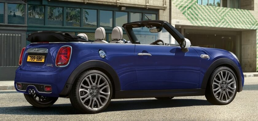 mini cooper convertible rear angle