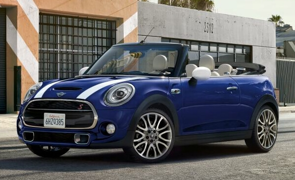mini cooper convertible front angle
