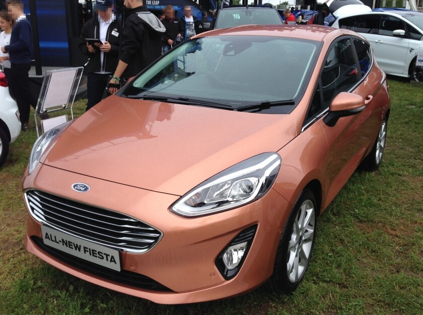 all new ford fiesta front angle
