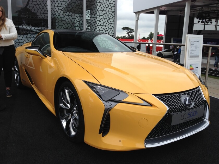 lexus lc500h side angle