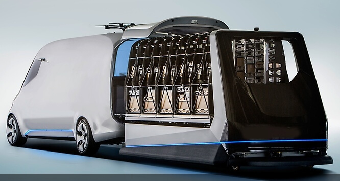 mercedes benz vision van loading
