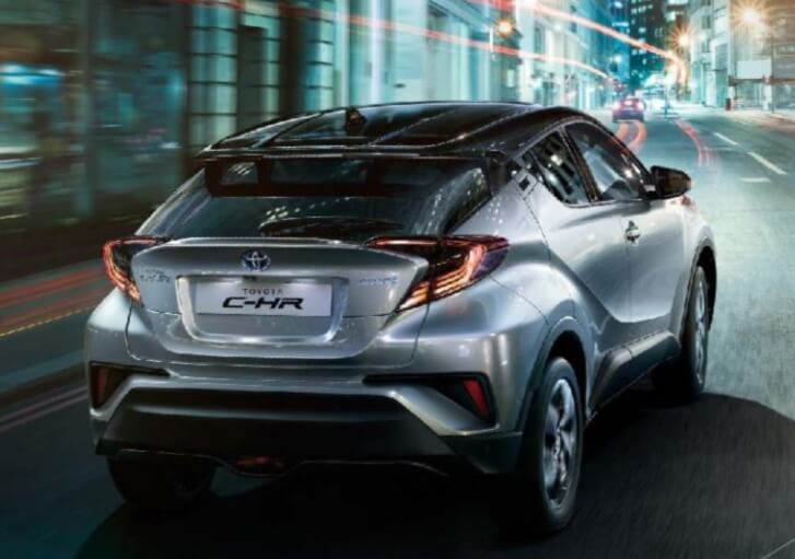 toyota c-hr rear angle