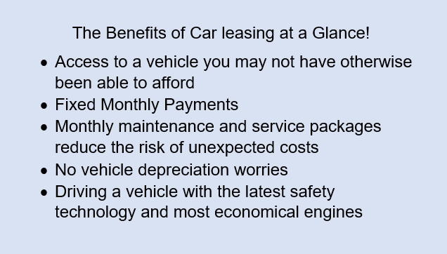 the benefits of car leasing at a glance